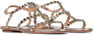 Aquazzura Exclusive to Mytheresa Tequila embellished leather sandals