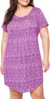 JCPenney Ambrielle Short Sleeve Nightshirt - Plus