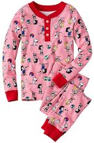 Peanuts Kids Long John Pajamas in Organic Cotton