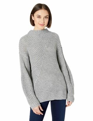 William Rast Women's Robbin Oversize Mock Neck Sweater