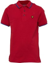 Lyle & Scott Junior Boys Red Tipped Short Sleeve Polo Royal Red Royal Red