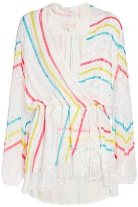 Rococo Sand Embellished Wrap Dress