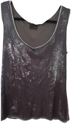 Fendi Grey Silk Top for Women