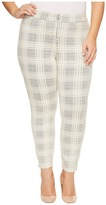 Hue Plus Size Plaid Loafer Skimmer Women's Casual Pants