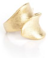 Rivka Friedman 18K Gold Clad Brushed Bypass Ribbon Ring