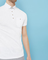 Linen Collar Polo Shirt