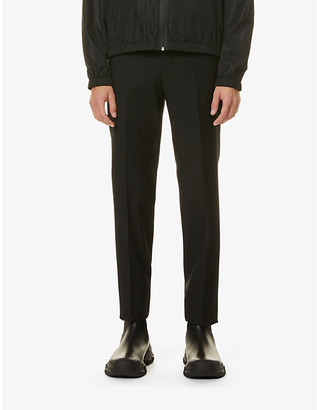 Givenchy Brand-tape slim-leg wool trousers