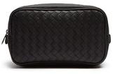 Bottega Veneta Canvas and intrecciato leather washbag