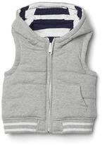 Gap Quilted reversible hoodie vest