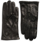 Michael Kors Stud Accented Leather Gloves