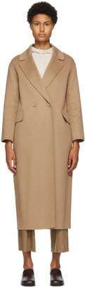 S Max Mara Beige Wool Argo Coat