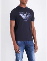Armani Jeans Milano Eagle-print Cotton-jersey T-shirt