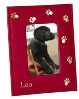 Graphic Image Personalized Paw-Print Leather Frame