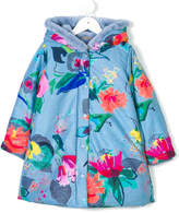Oilily floral print fur lined coat