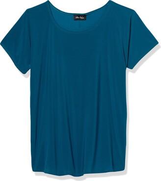 Star Vixen Women's Petite Dolman Sleeve Hi-Low Hem Easy-Wear Smooth Knit Top