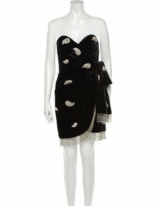 Dundas Paisley Print Mini Dress Black