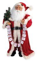 Kurt Adler 36-Inch Elegant Decorative Santa in Red/White