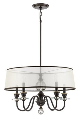 Seagraves 5 - Light Candle Style Drum Chandelier Darby Home Co