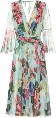 Dolce & Gabbana Floral silk-chiffon wrap dress