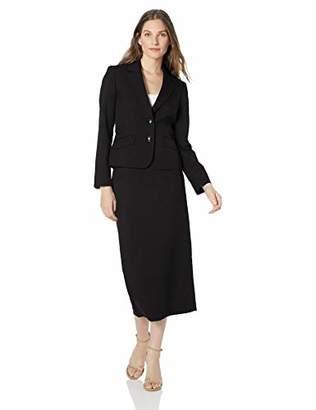 Le Suit Women's 2 Button Notch Collar Column Skirt Suit