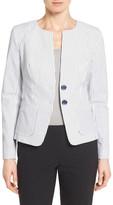 Nordstrom &City Stripe& Collarless Jacket