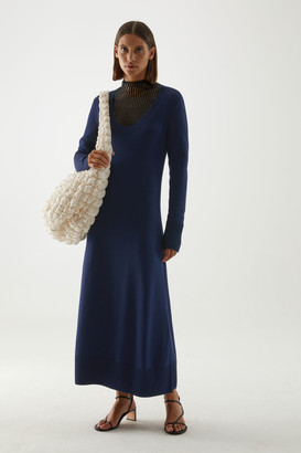 Cos A-Line Long Sleeve Knitted Dress