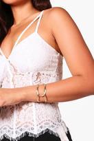 boohoo Lara Knotted Arm Cuff gold