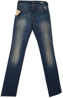 Replay Blue Cotton Jeans for Women