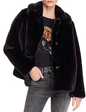 MKT Studio Collared Faux Fur Coat