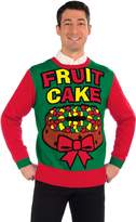 Forum Novelties Men's Fruit Cake Novelty Christmas Sweater