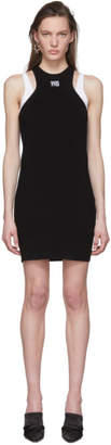 Alexander Wang Black Foundation Bodycon Layering Dress