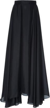 Prada Habotai Pleated Silk Full Skirt
