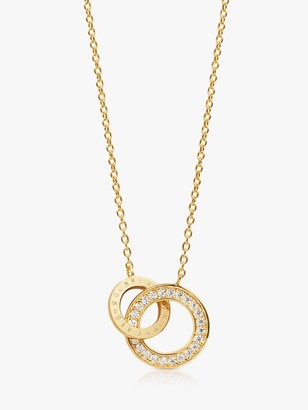 Sif Jakobs Jewellery Cubic Zirconia Interlinked Ring Pendant Necklace, Gold