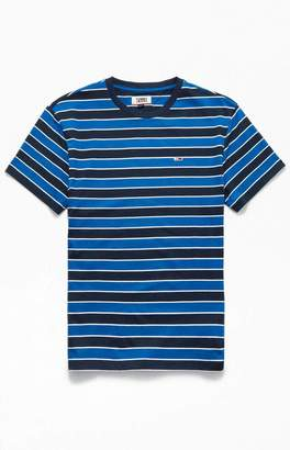 Tommy Jeans Blue Bold Striped T-Shirt