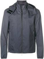 Emporio Armani monogram print hooded jacket