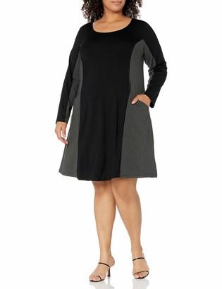 Karen Kane Women's Plus Size Contrast Dress W/Pockets