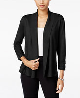 JM Collection Ruched Open-Front Cardigan, Only at Macy's