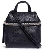 Kara 'Satchel' micro pebbled leather crossbody bag