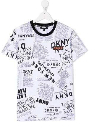 DKNY all-over logo T-shirt