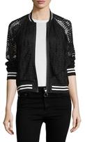 Rachel Roy Lace Bomber Jacket