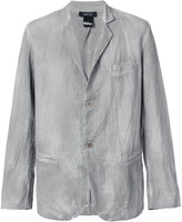 Avant Toi bleached effect blazer - men - Silk/Cotton/Linen/Flax/Polyamide - XL