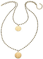 Heather Hawkins 2 Layer Hammered Coin Necklace