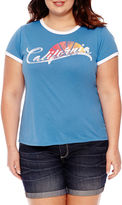 Arizona California Graphic T-Shirt- Juniors Plus