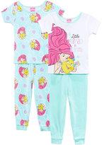 Disney 4-Pc. Little Mermaid in Training Cotton Pajama Set, Toddler Girls (2T-5T)