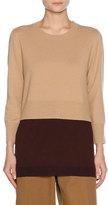 Marni Layered Virgin Wool-Cashmere Sweater, Neutral
