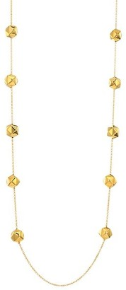 Alberto Milani 18K Yellow Gold Studded Chain Necklace