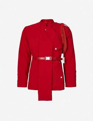 Pieces Uniques Anger mandarin-collar woven jacket