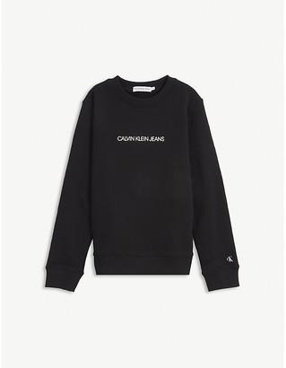 Calvin Klein Jeans Logo-print cotton sweatshirt 4-16 years