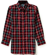 Class Club Big Boys 8-20 Large-Plaid Button-Front Sportshirt