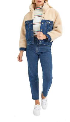Josie Abrand Jeans A Sherpa Jacket